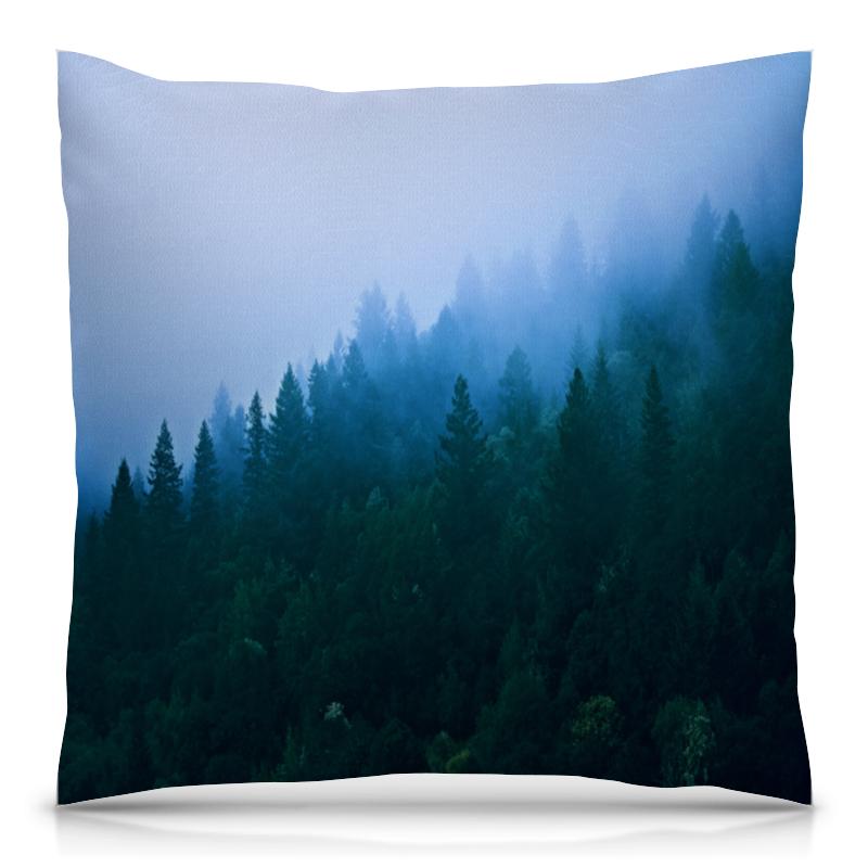 Подушка 40х40 с полной запечаткой Printio Лесной пейзаж