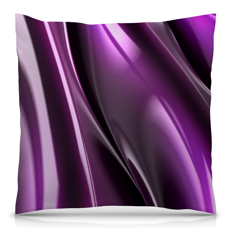 Подушка 40х40 с полной запечаткой Printio Фиолетовые линии футболка с полной запечаткой женская printio фиолетовые линии