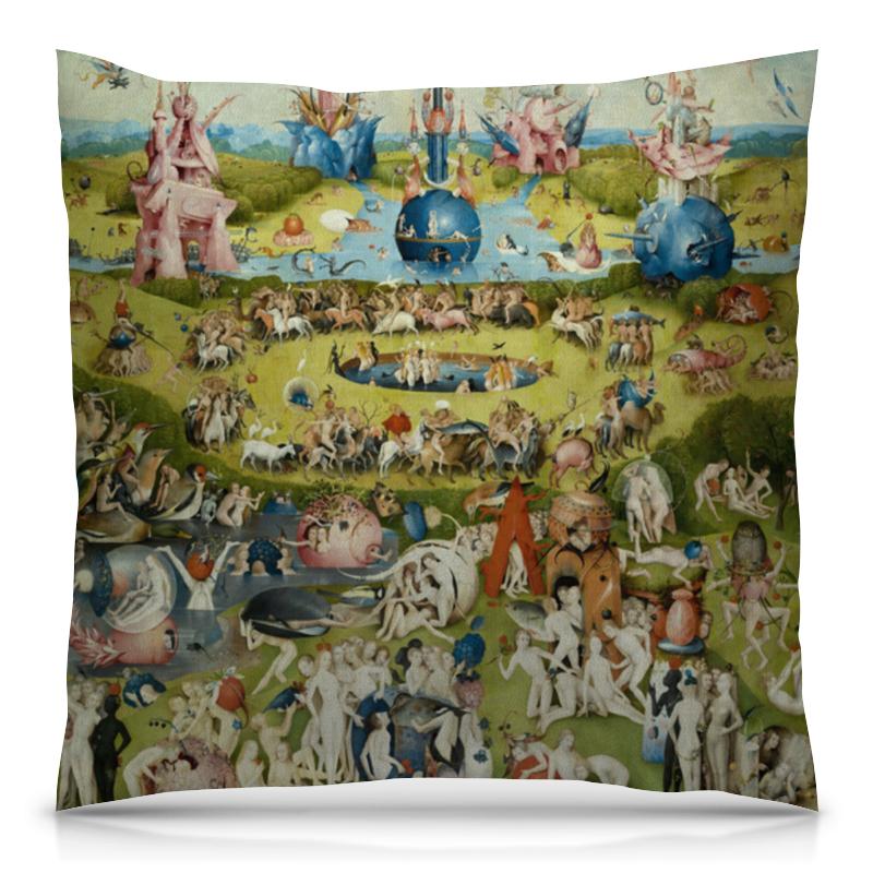 Подушка 40х40 с полной запечаткой Printio Сад земных наслаждений футболка print bar сад земных наслаждений