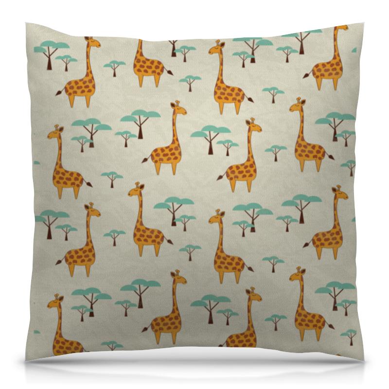 Подушка 40х40 с полной запечаткой Printio Жирафы lori фоторамки из гипса жирафы