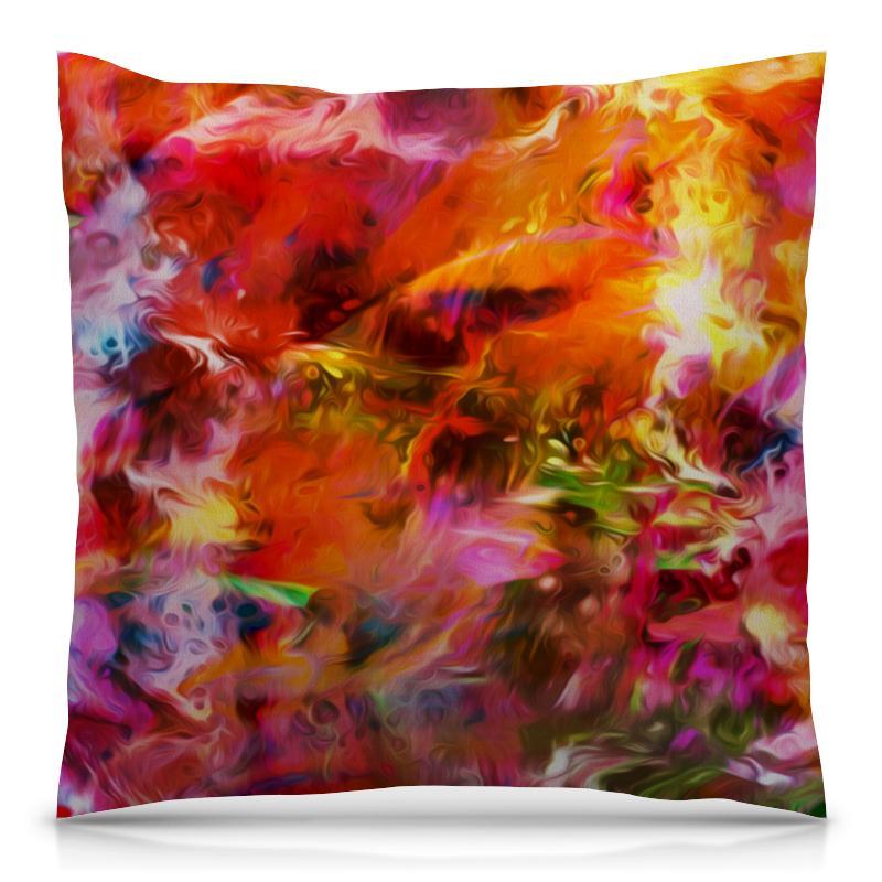 Printio Разноцветные краски подушка 40х40 с полной запечаткой printio акварельные краски