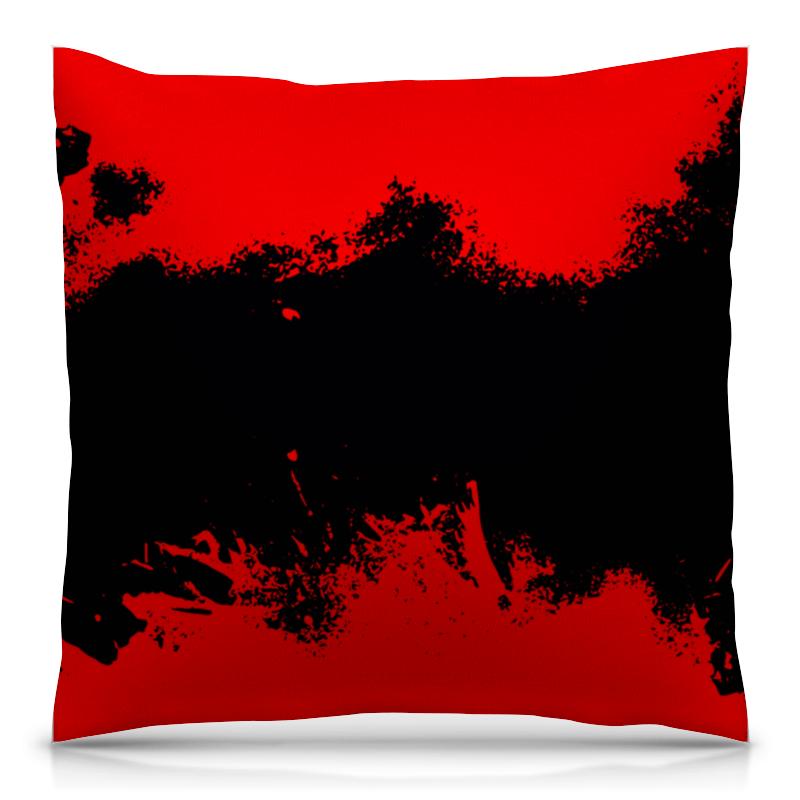 Подушка 40х40 с полной запечаткой Printio Черно-красные краски цена