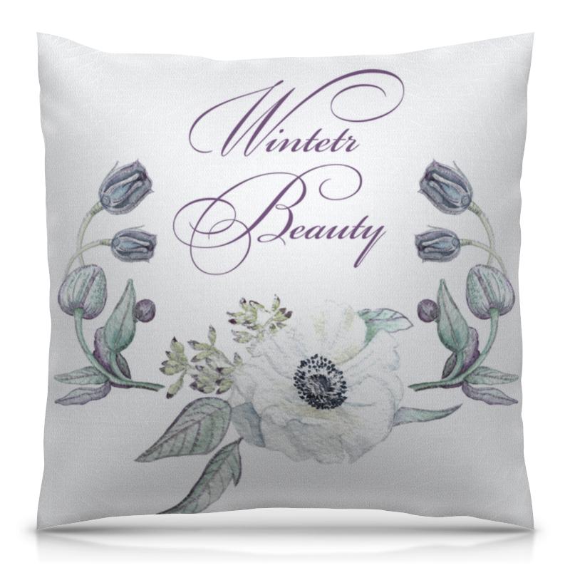 Подушка 40х40 с полной запечаткой Printio Зимняя красота (winter beauty)