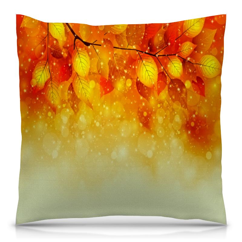 Подушка 40х40 с полной запечаткой Printio Осенние листья длинные осенние кaрдигaны
