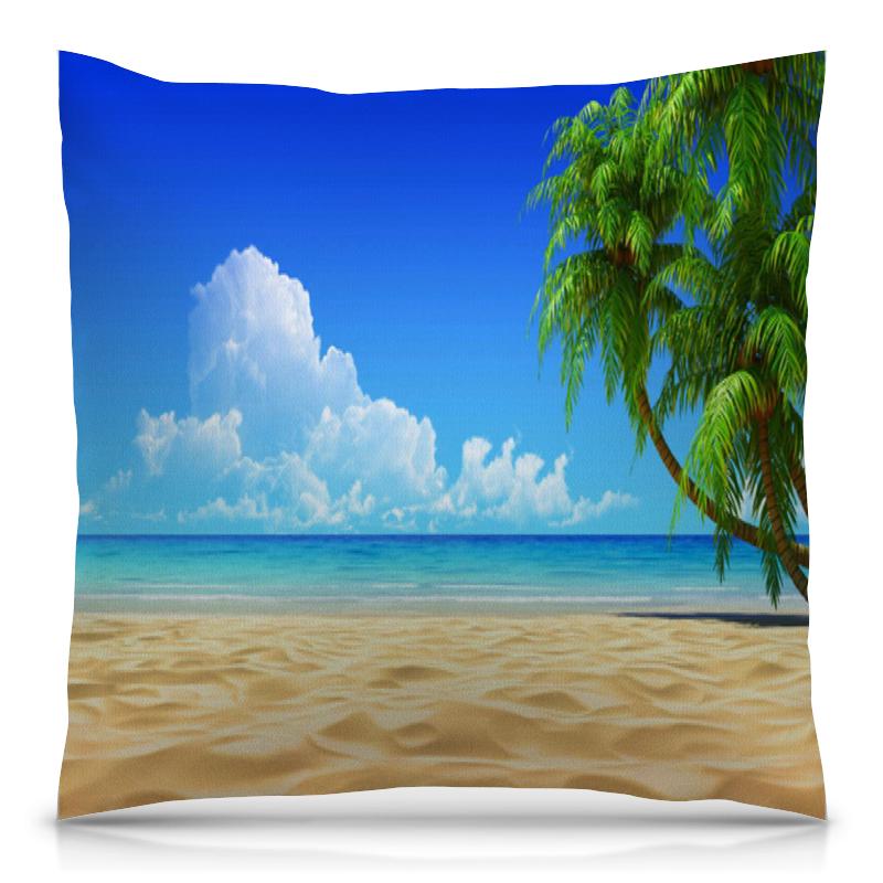 Подушка 40х40 с полной запечаткой Printio Остров с пальмами.
