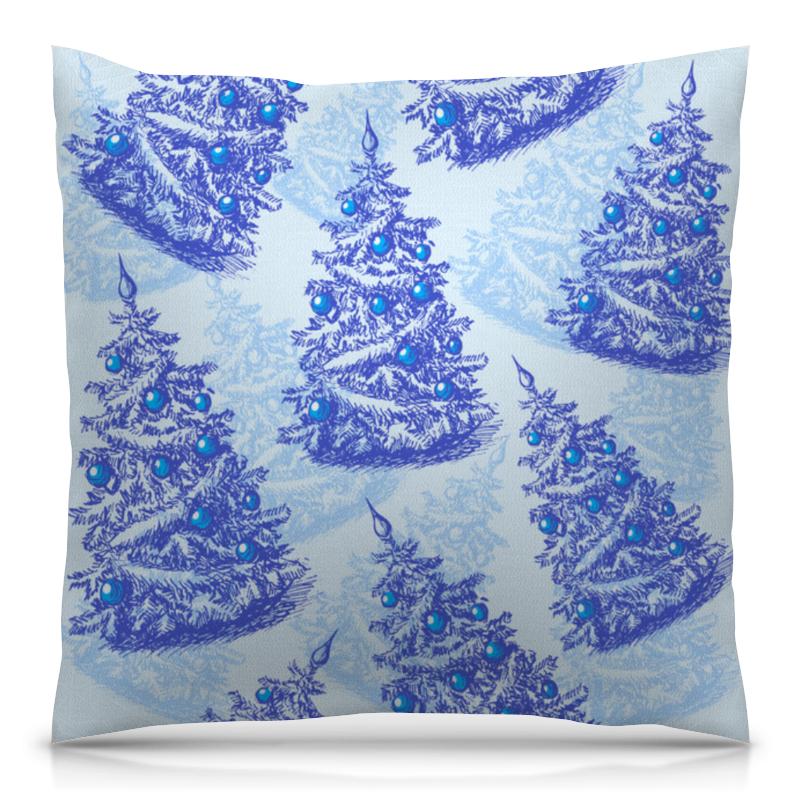 Подушка 40х40 с полной запечаткой Printio Снежные елки