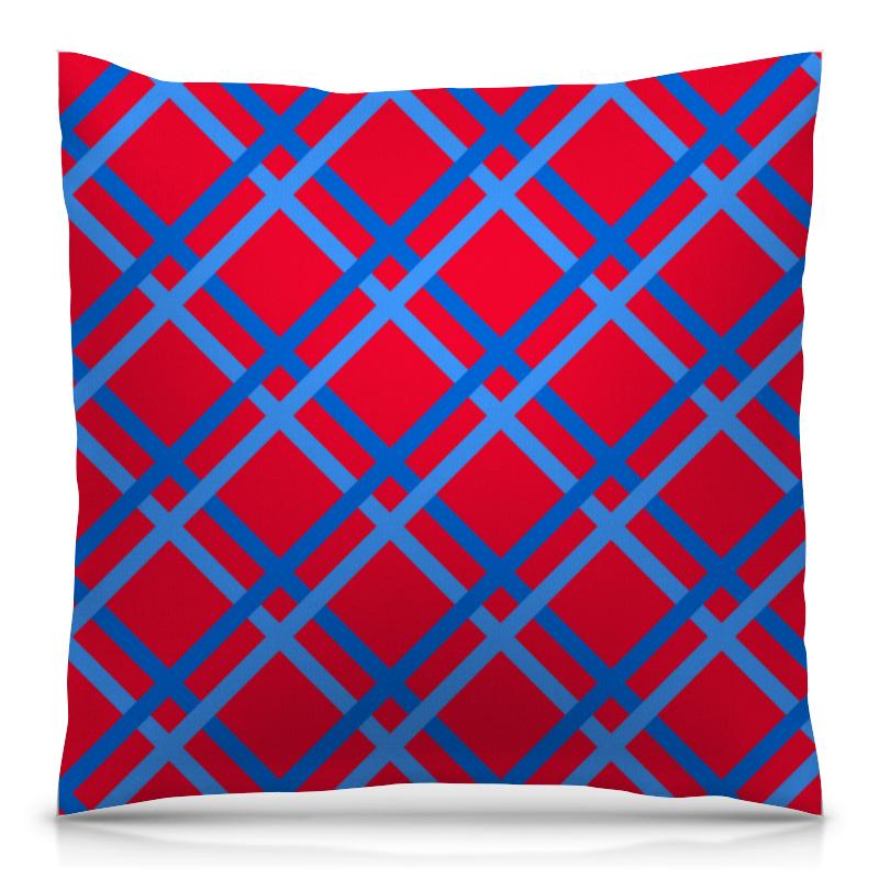 Подушка 40х40 с полной запечаткой Printio Сине-голубые линии футболка с полной запечаткой женская printio сине голубые линии