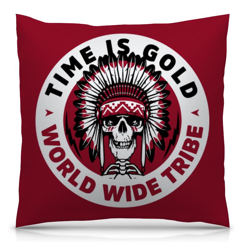 Подушка 40х40 с полной запечаткой Printio Время -золото золото