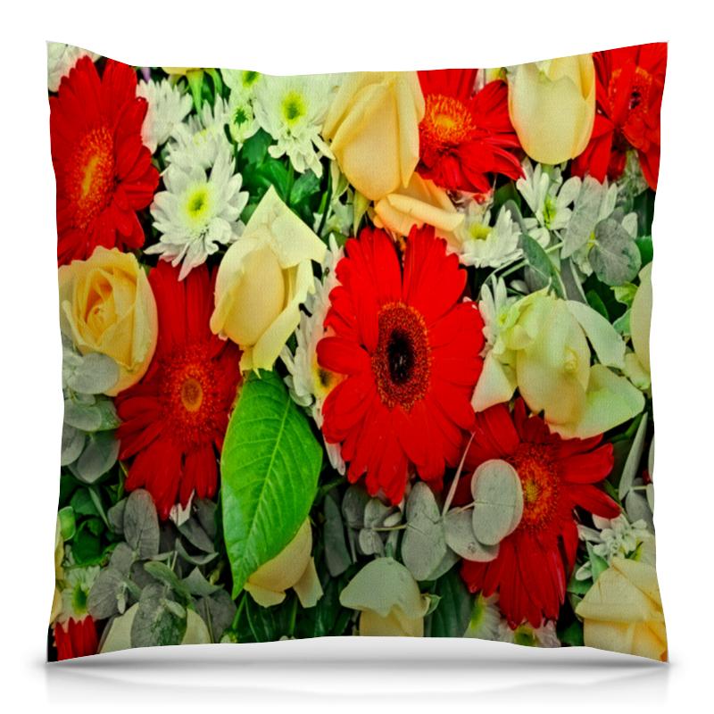 Подушка 40х40 с полной запечаткой Printio Букет цветов