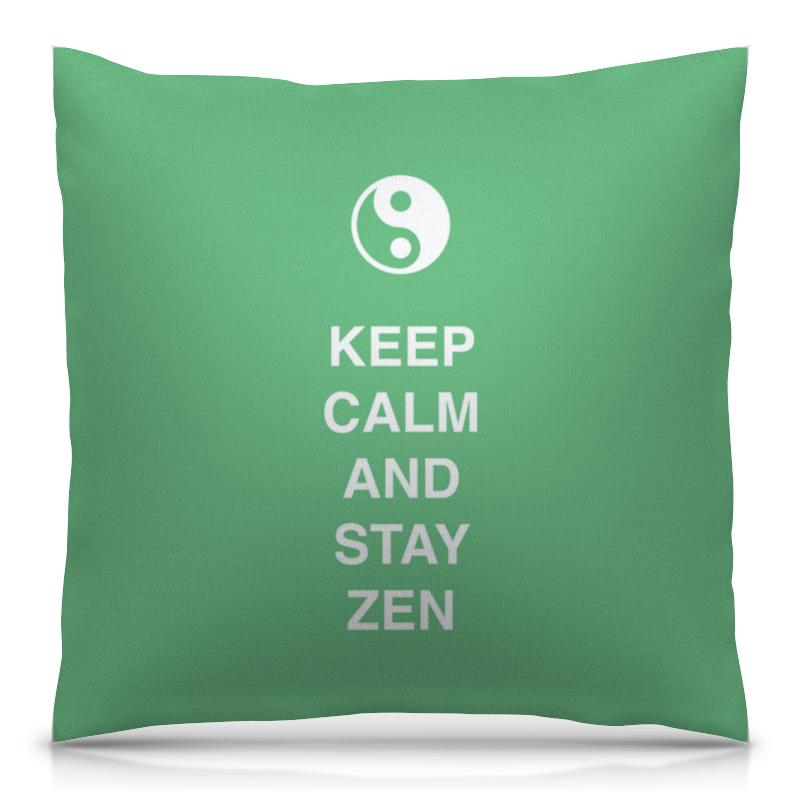 Подушка 40х40 с полной запечаткой Printio Keep calm and stay zen лонгслив printio keep calm and carry on