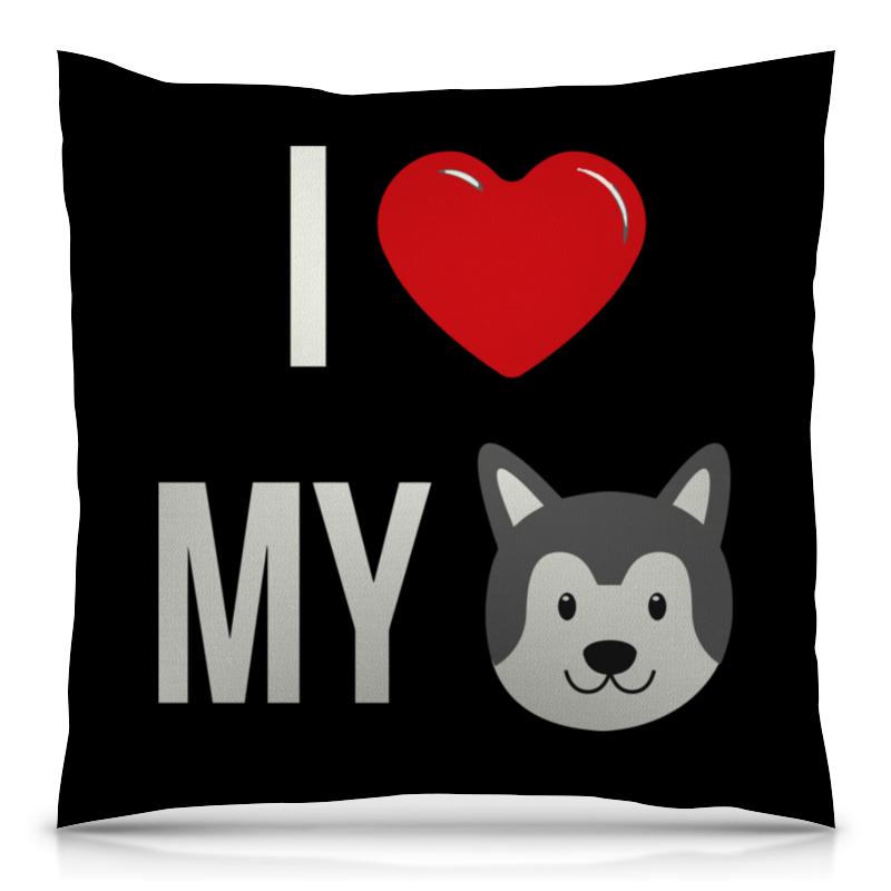 Подушка 40х40 с полной запечаткой Printio Я люблю свою собаку футболка с полной запечаткой женская printio я люблю свою собаку