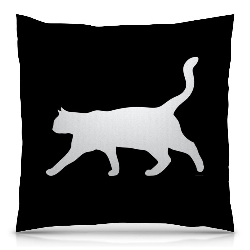 Подушка 40х40 с полной запечаткой Printio Силуэт белой кошки. кружка printio силуэт белой кошки