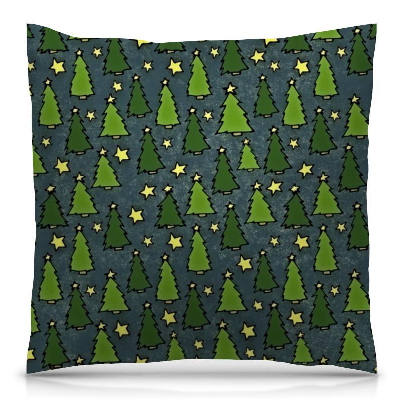 Подушка 40х40 с полной запечаткой Printio Новогодняя елка подушка 40х40 с полной запечаткой printio снежная елка
