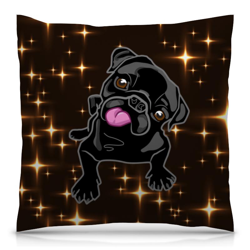Подушка 40х40 с полной запечаткой Printio Черный пес