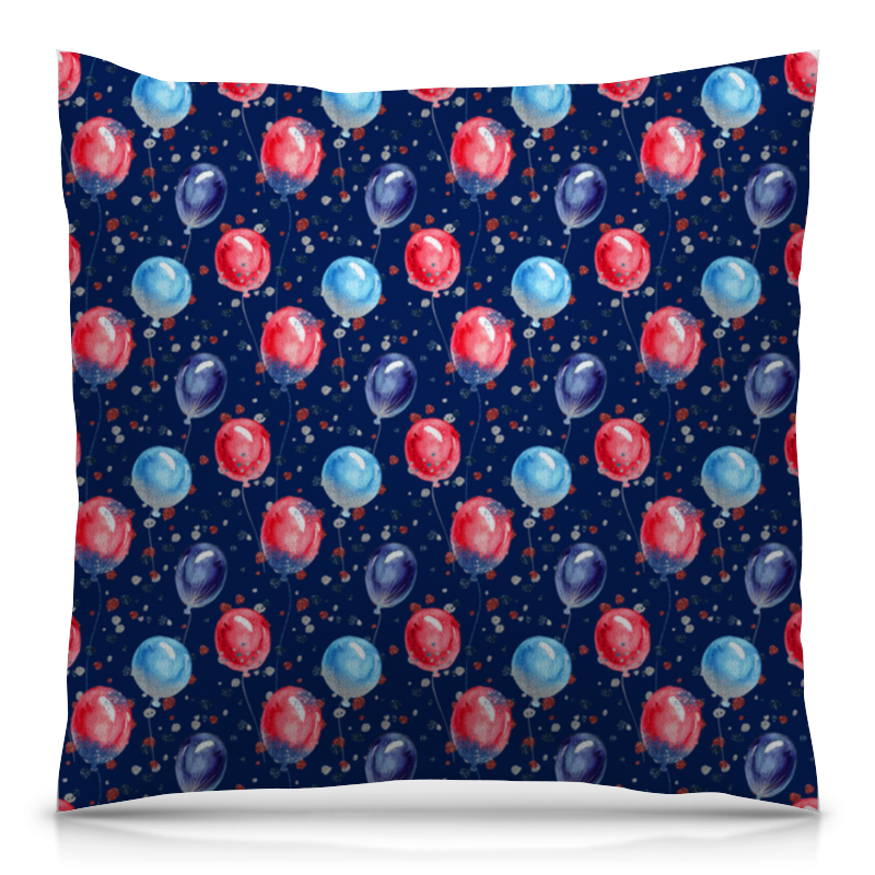 Подушка 40х40 с полной запечаткой Printio Воздушные шарики футболка с полной запечаткой женская printio воздушные шарики