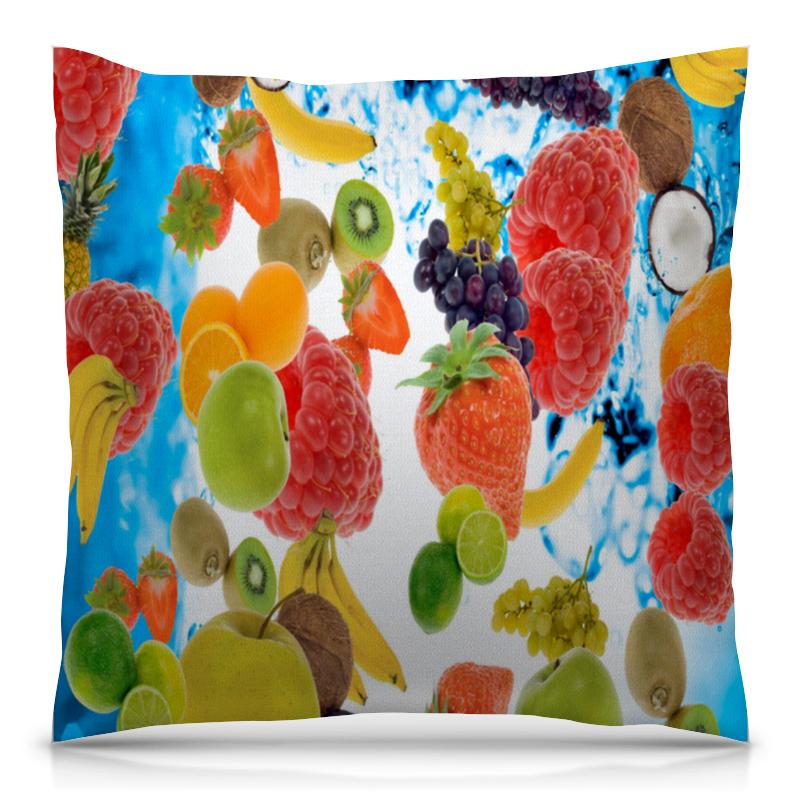 Подушка 40х40 с полной запечаткой Printio Фруктовый коктейль colorful подушка подушка сиденья может быть фруктовый порошок дефолт