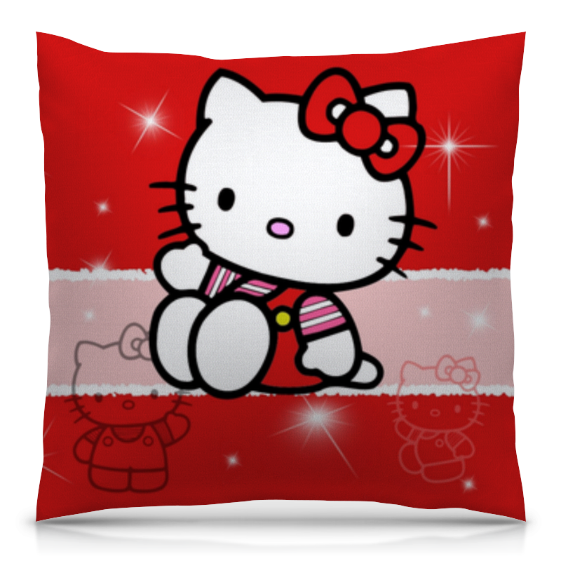 Подушка 40х40 с полной запечаткой Printio Hello kitty с искрами cxzyking 20cm sweet new kt cat hello kitty plush toys cute hug mushroom hello kitty kt cat pillow dolls for kids baby girl gift