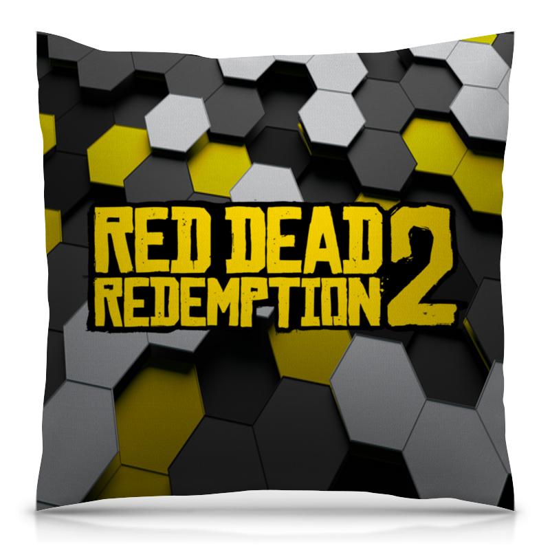 Подушка 40х40 с полной запечаткой Printio Red dead redemption 2 цена и фото