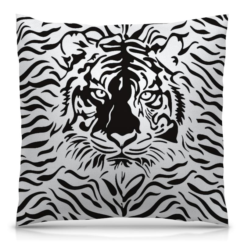 Подушка 40х40 с полной запечаткой Printio Взгляд тигра хоук к в поисках тигра