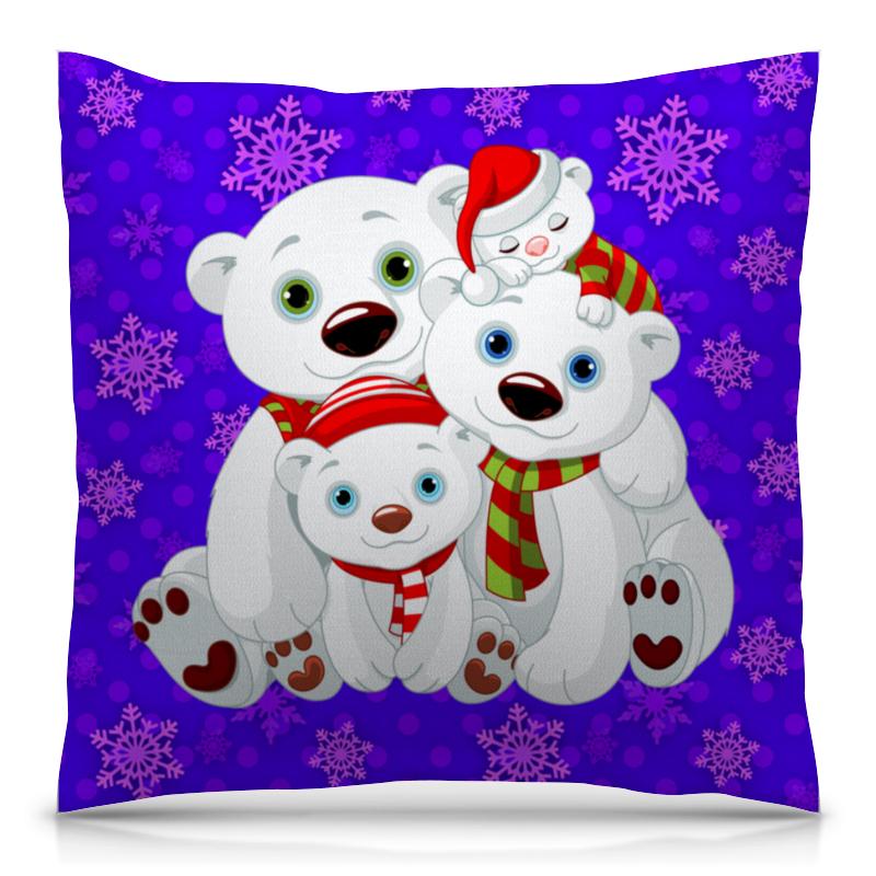 Подушка 40х40 с полной запечаткой Printio Белые медведи подушка printio белые медведи