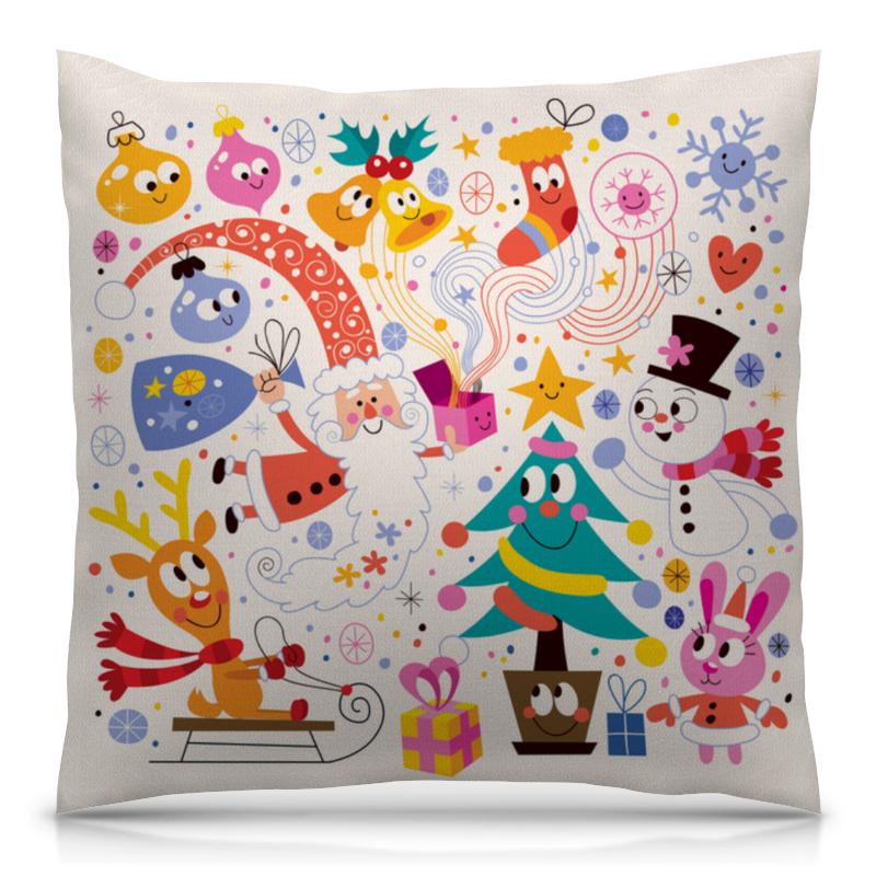 Подушка 40х40 с полной запечаткой Printio Зимние праздники футболка с полной запечаткой для мальчиков printio зимние праздники