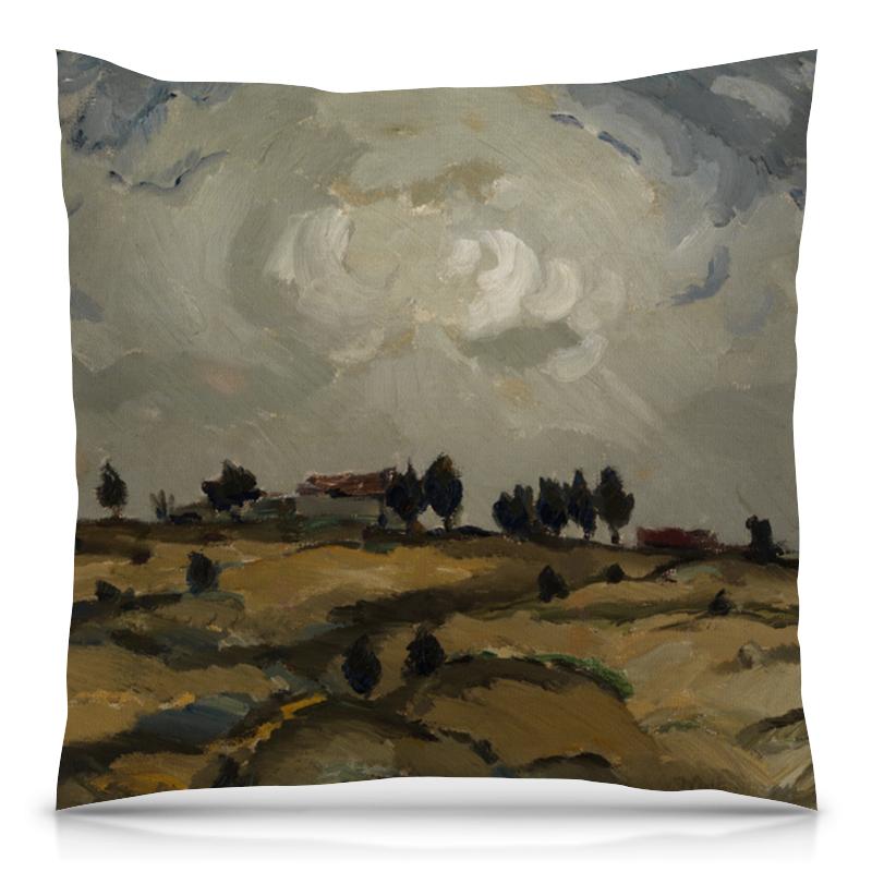 Подушка 40х40 с полной запечаткой Printio Осенний пейзаж с облаками (аалто илмари) подушка 40х40 с полной запечаткой printio картина