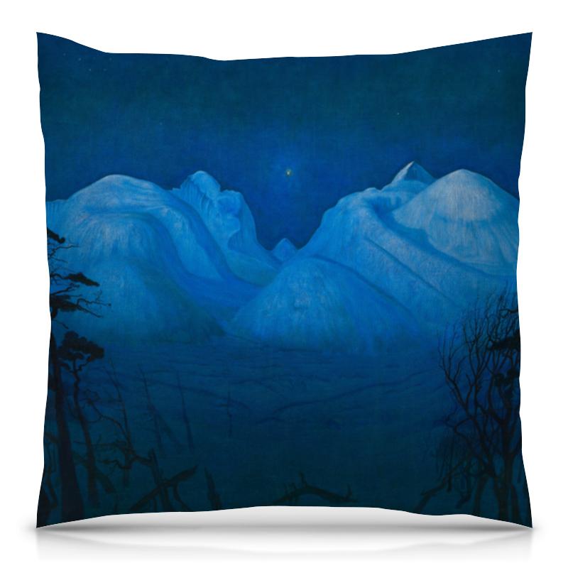 Подушка 40х40 с полной запечаткой Printio Зимняя ночь в рондане (харальд оскар сольберг)