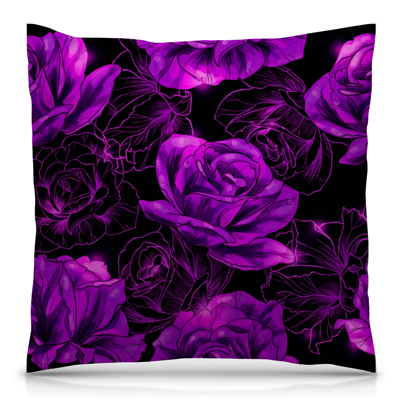 Подушка 40х40 с полной запечаткой Printio Розы в цвету