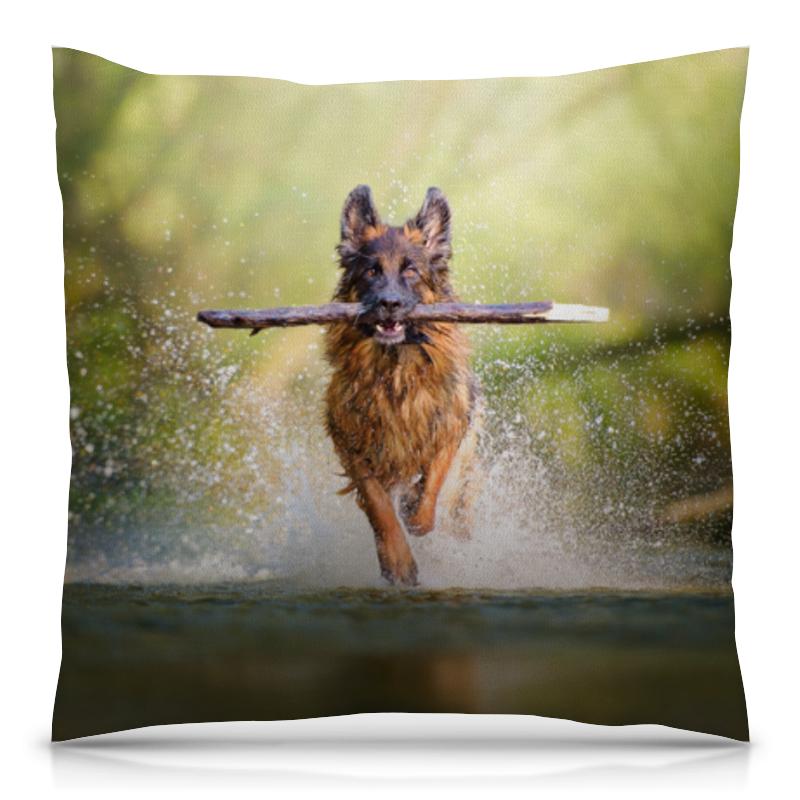 Подушка 40х40 с полной запечаткой Printio Собака андрей дашков домашнее животное