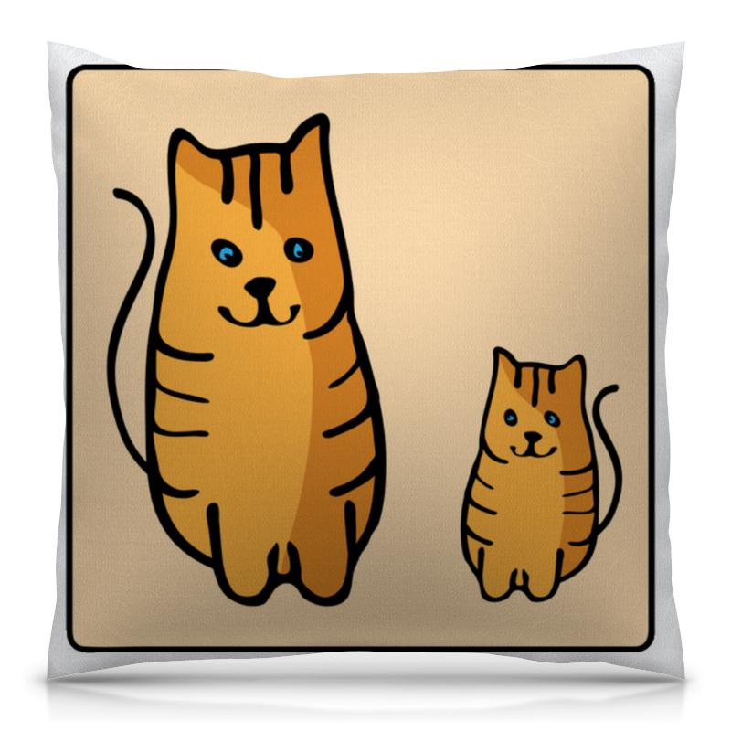 Подушка 40х40 с полной запечаткой Printio Два котика, смотрящие друг на друга неизвестный друг