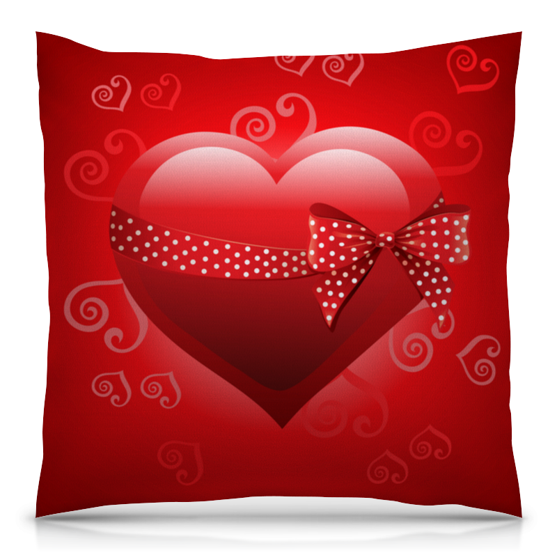 Подушка 40х40 с полной запечаткой Printio Сердце