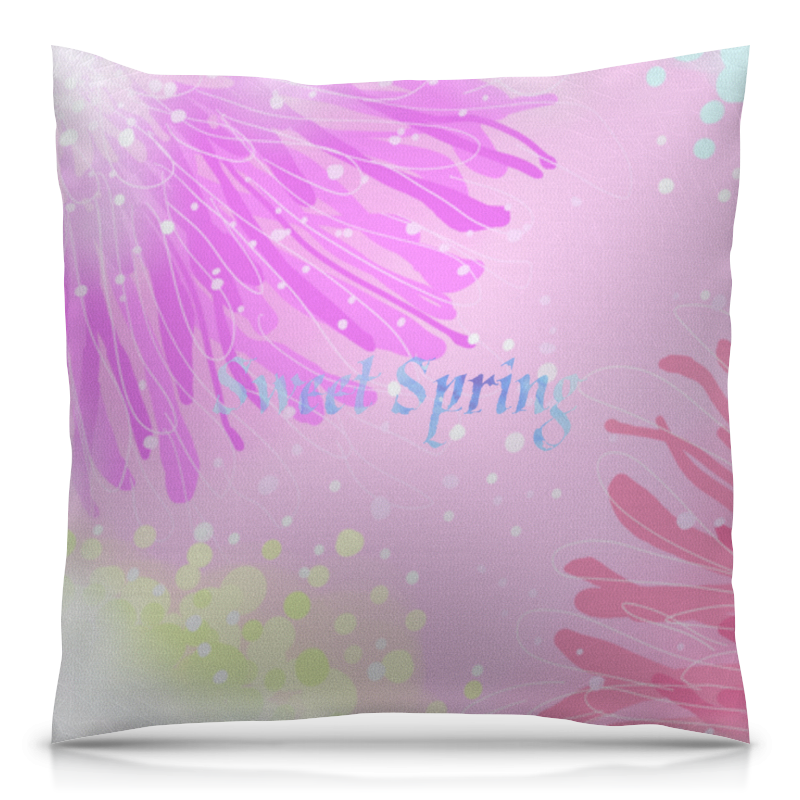 Подушка 40х40 с полной запечаткой Printio Sweet spring (розовый)