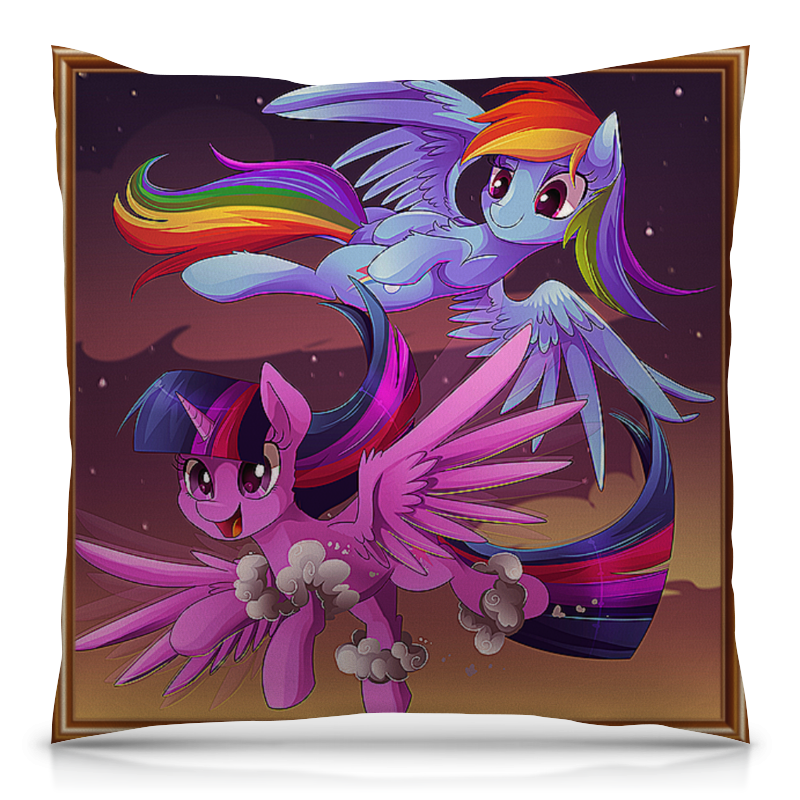 Подушка 40х40 с полной запечаткой Printio Маленький пони, принцесса луна часы круглые из пластика printio маленький пони принцесса луна