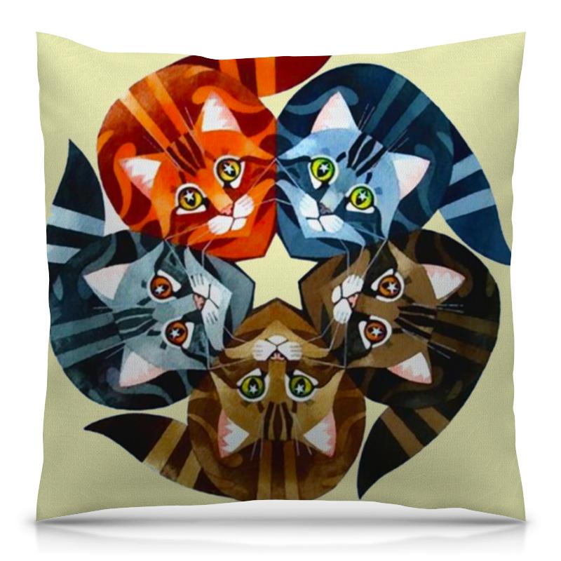 Подушка 40х40 с полной запечаткой Printio Кошачий глаз авторский браслет кристина кошачий глаз
