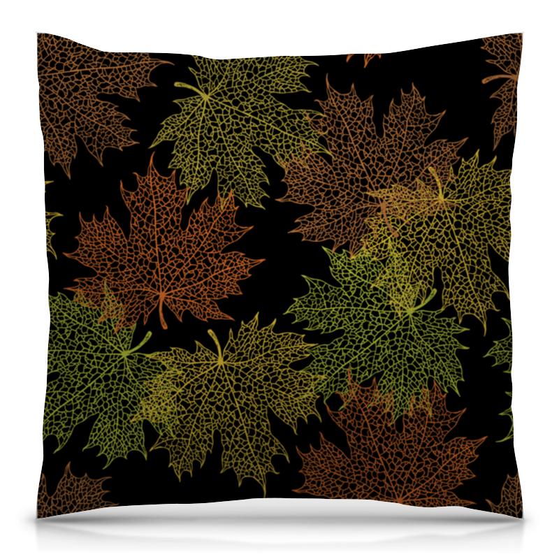 Printio Кленовые листья подушка 40х40 с полной запечаткой printio гвоздики
