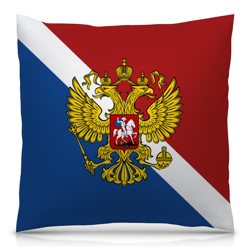Printio Флаг россии подушка 40х40 с полной запечаткой printio британский флаг
