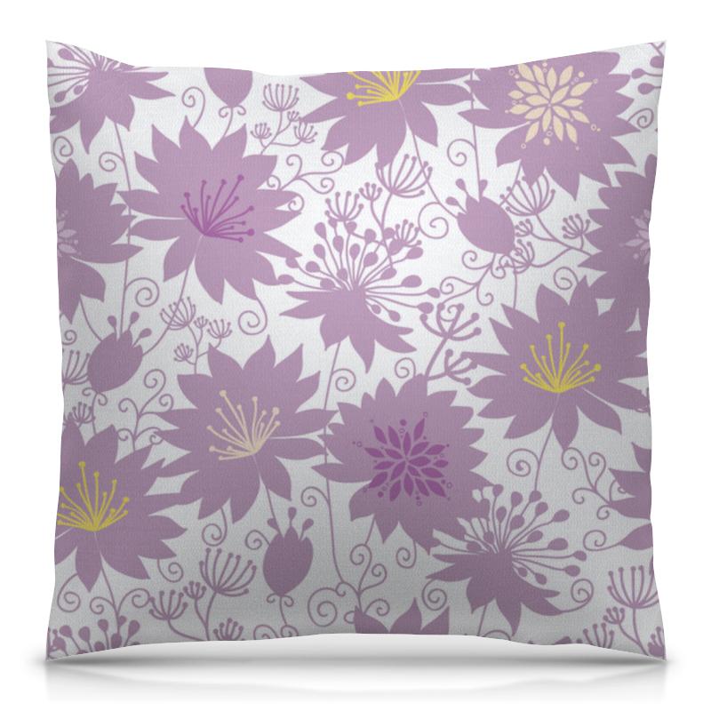 Подушка 40х40 с полной запечаткой Printio Фиолетовые цветы