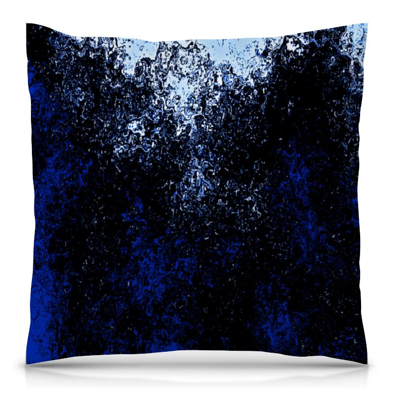 Printio Черно-синие брызги подушка 40х40 с полной запечаткой printio цветные брызги