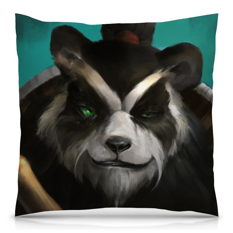 Подушка 40х40 с полной запечаткой Printio Панда (panda) подушки для малыша candide подушка анатомическая панда brownish grey panda pillow 21x19 см