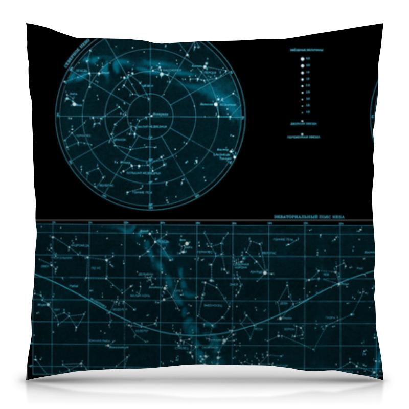 Подушка 40х40 с полной запечаткой Printio Карта звёздного неба свитшот унисекс с полной запечаткой printio карта звёздного неба