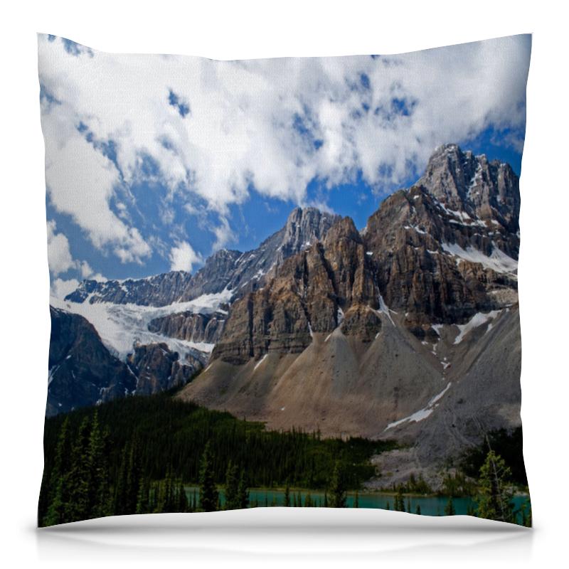 Подушка 40х40 с полной запечаткой Printio Лес и горы