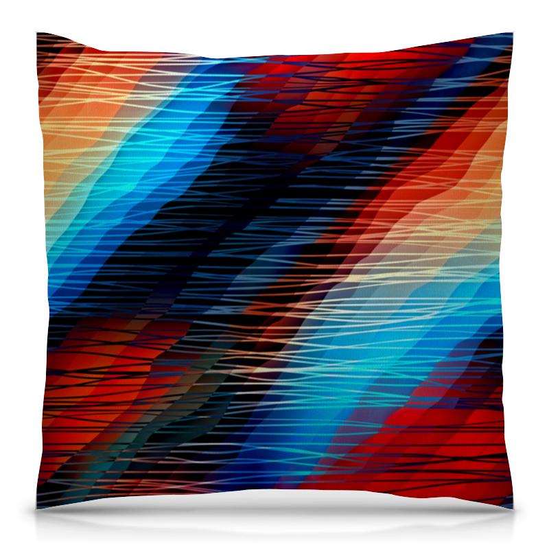 Printio Цветные текстуры подушка 40х40 с полной запечаткой printio цветные брызги