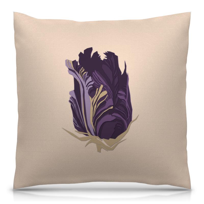Подушка 40х40 с полной запечаткой Printio Purple tulip женские сапоги purple tulip x026