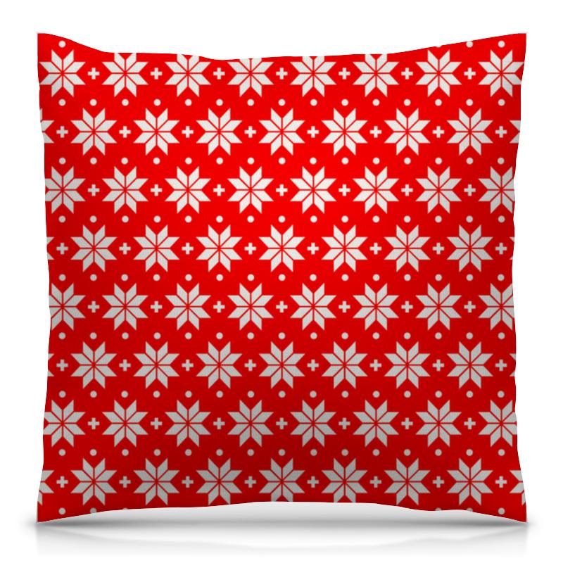 Подушка 40х40 с полной запечаткой Printio Красно-белый узор футболка с полной запечаткой для девочек printio красно белый узор