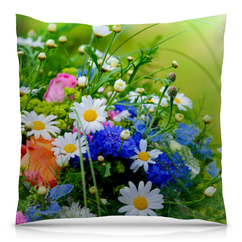 цена на Подушка 40х40 с полной запечаткой Printio Цветы