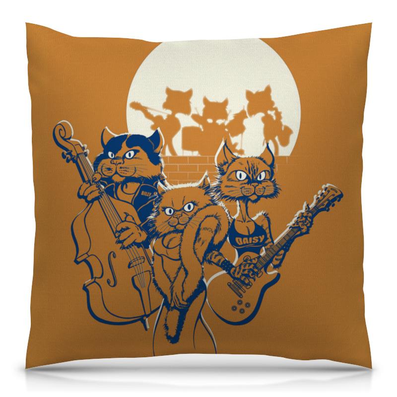 Подушка 40х40 с полной запечаткой Printio Кошачий концерт футболка с полной запечаткой женская printio кошачий концерт