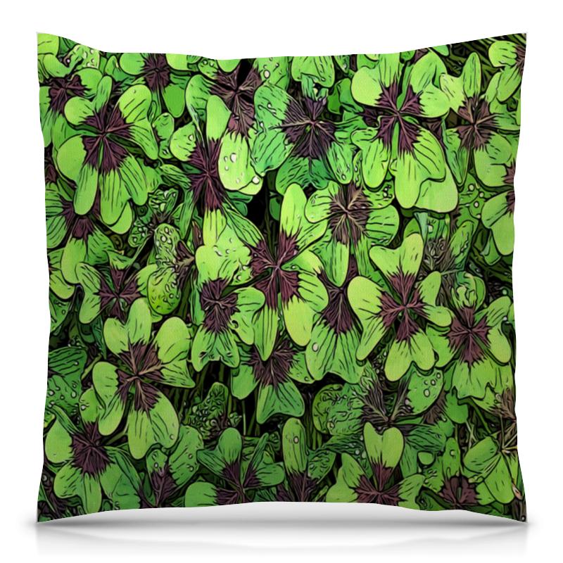 Фото - Printio Зеленые цветы подушка 40х40 с полной запечаткой printio нежные цветы