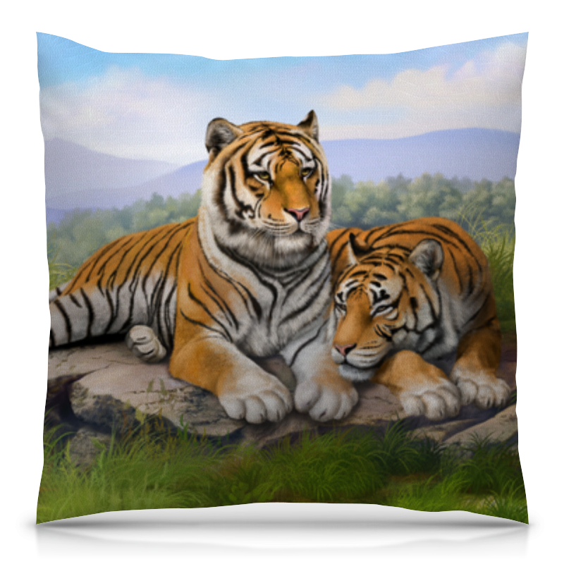 Подушка 40х40 с полной запечаткой Printio Тигры подушка printio тигры