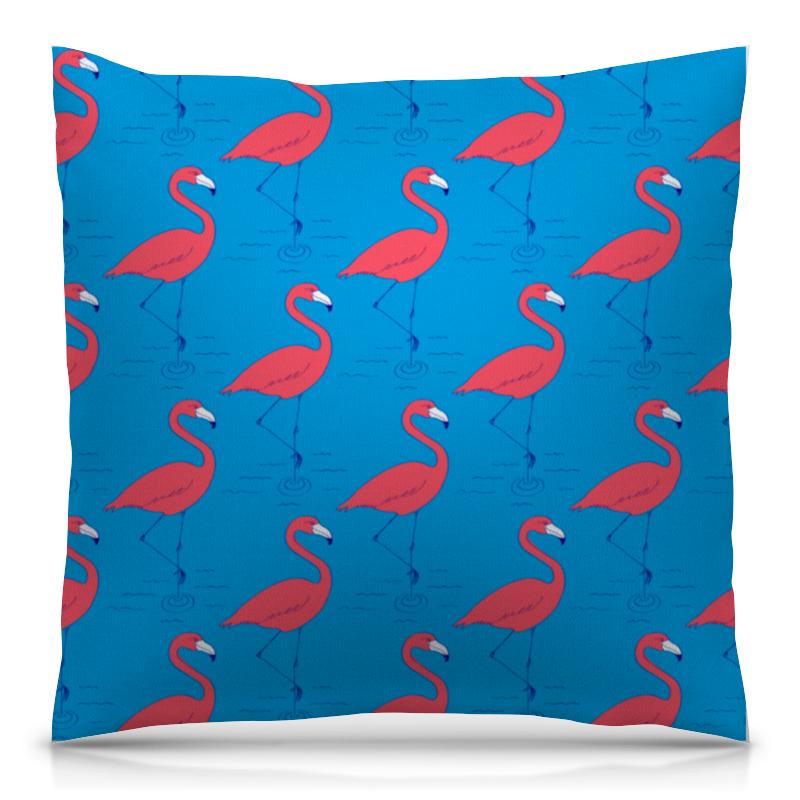 Printio Розовый фламинго подушка с пайетками фламинго сплошная текстиль 40х40