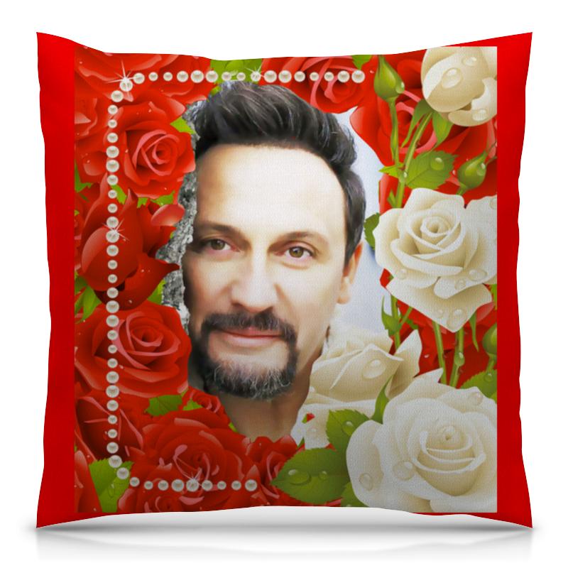 Подушка 40х40 с полной запечаткой Printio Стас михайлов. моя любовь. подушка 40х40 с полной запечаткой printio стас михайлов с розами улыбается ❤